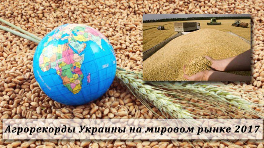 Агрорекорды Украины на мировом рынке 2017